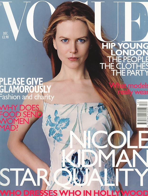 British Vogue Cover December 1998