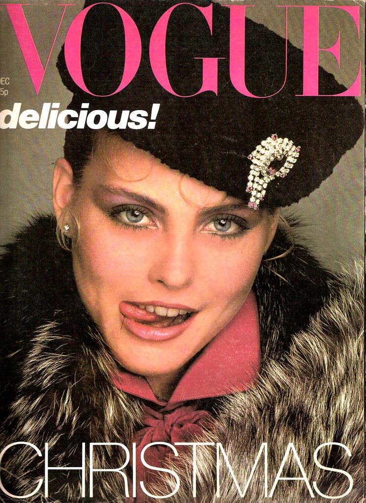 British Vogue Cover December 1978