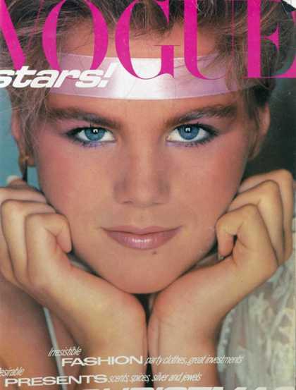 British Vogue Cover December 1980