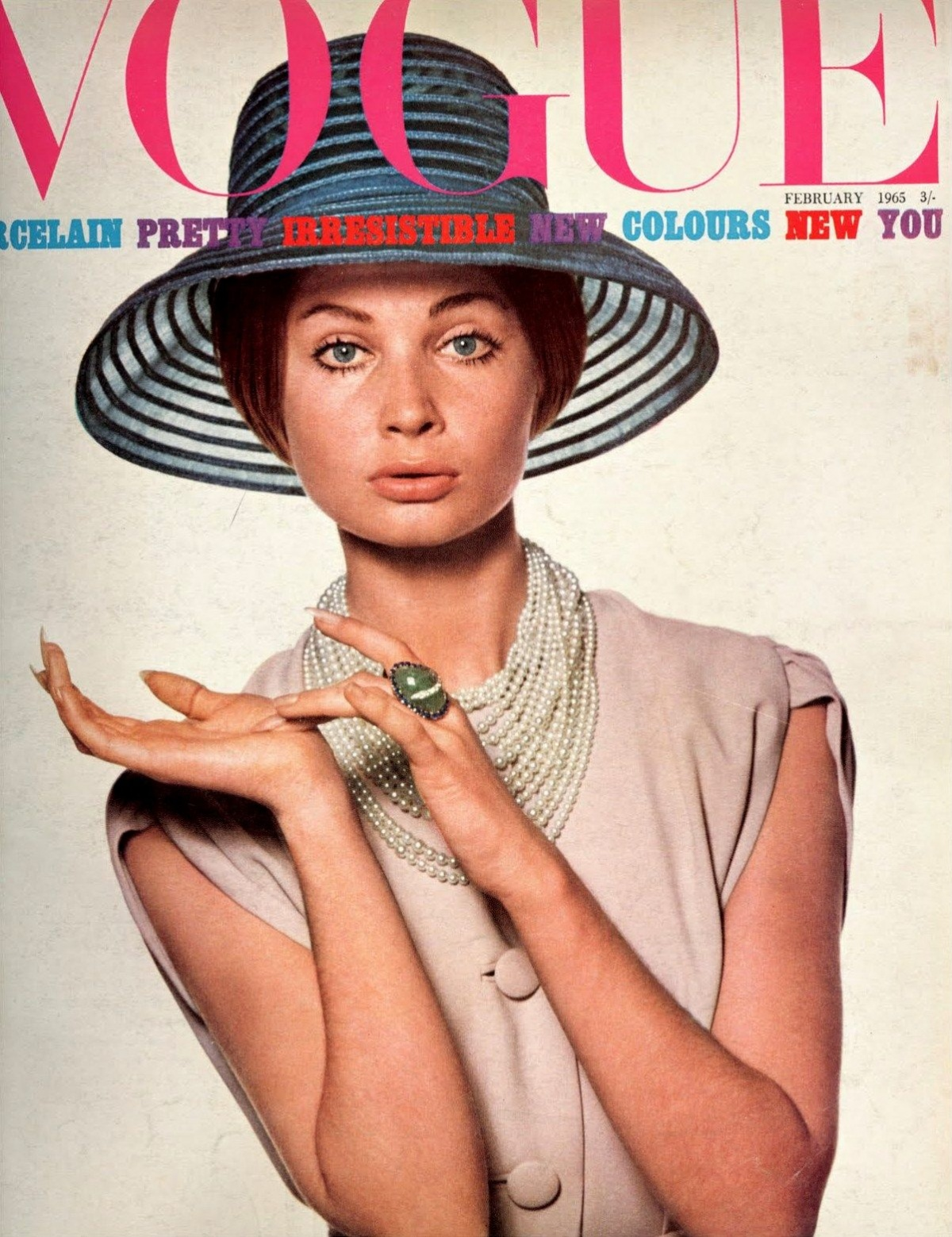 British Vogue Cover February 1965