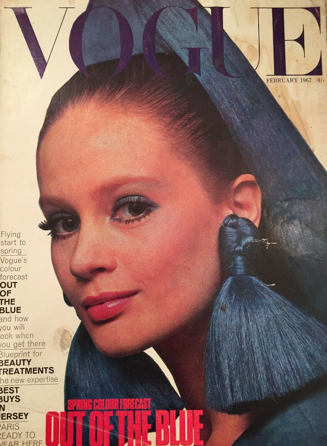 British Vogue Cover February 1967