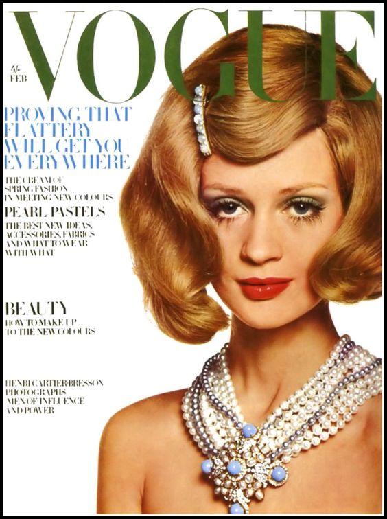 British Vogue Cover February 1968