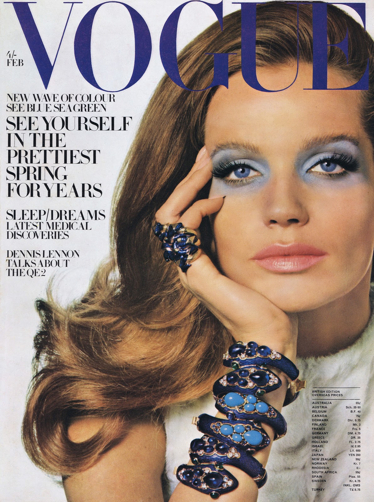 British Vogue Cover February 1969