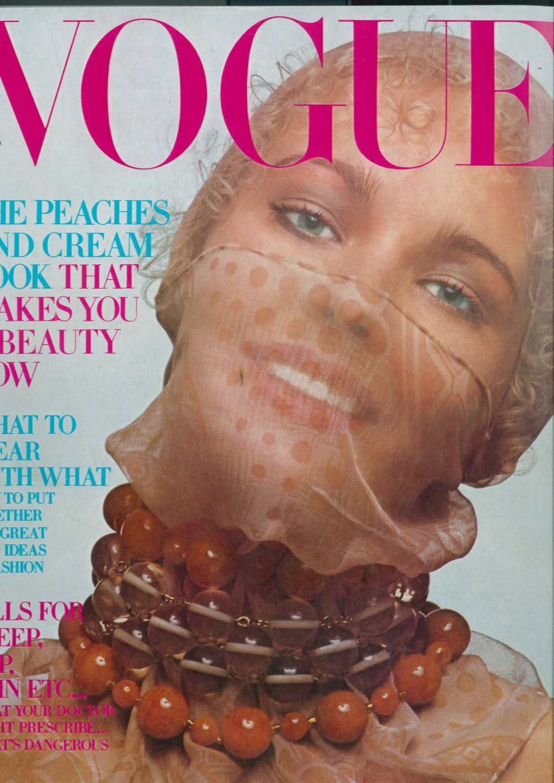 British Vogue Cover February 1970
