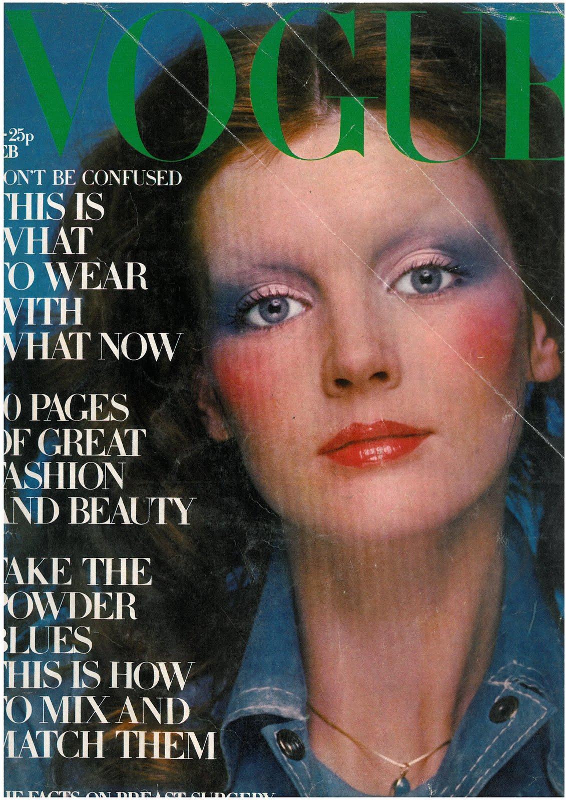 British Vogue Cover February 1971