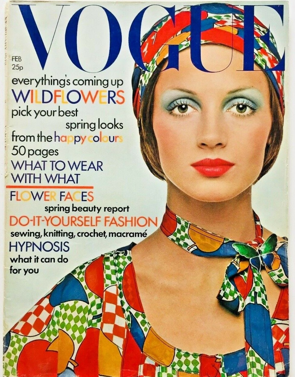 British Vogue Cover February 1972