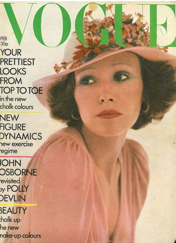 British Vogue Cover February 1973