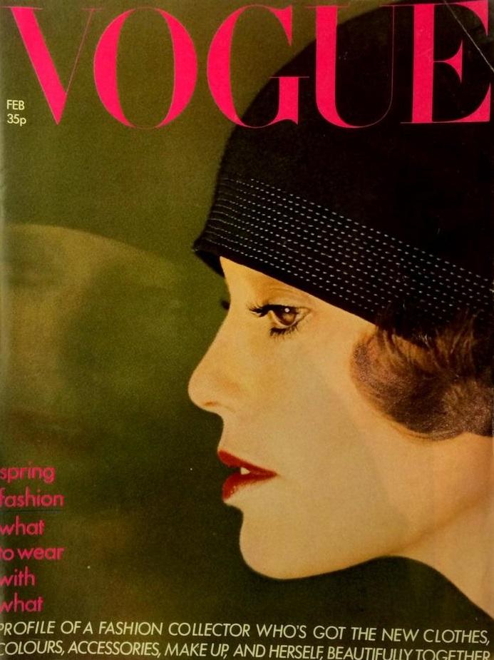 British Vogue Cover February 1974