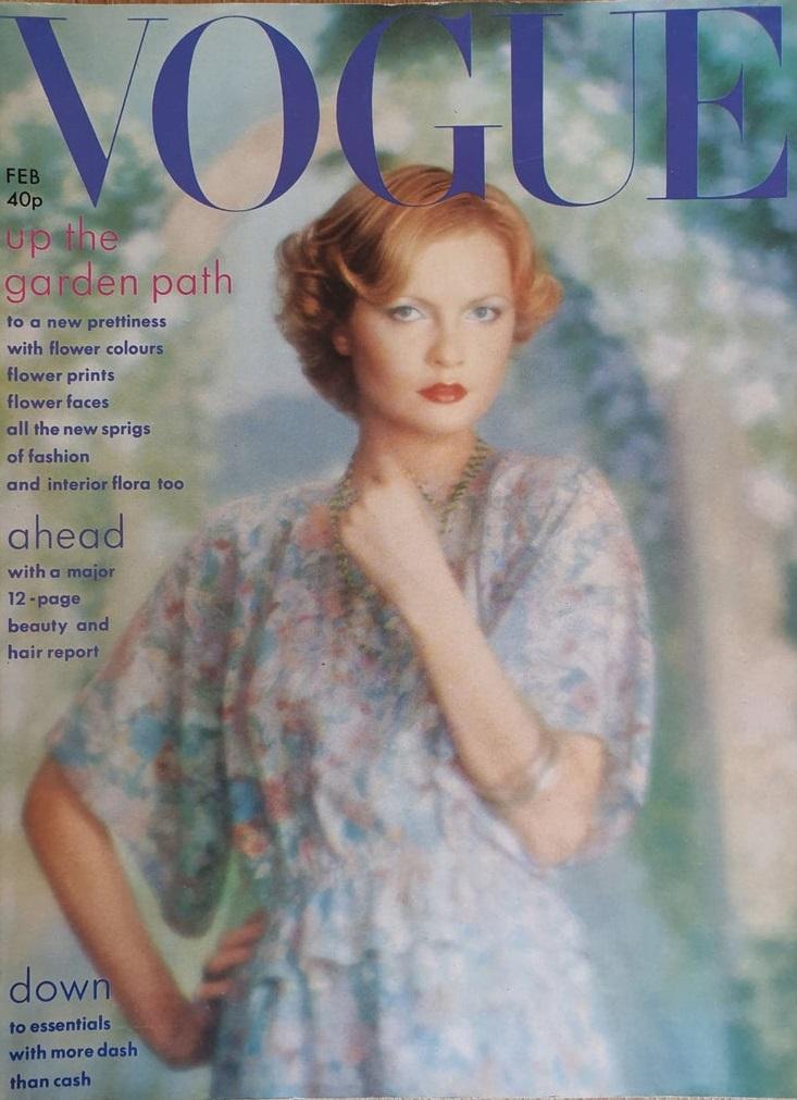 British Vogue Cover February 1975