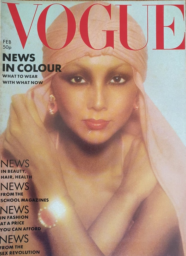 British Vogue Cover February 1976