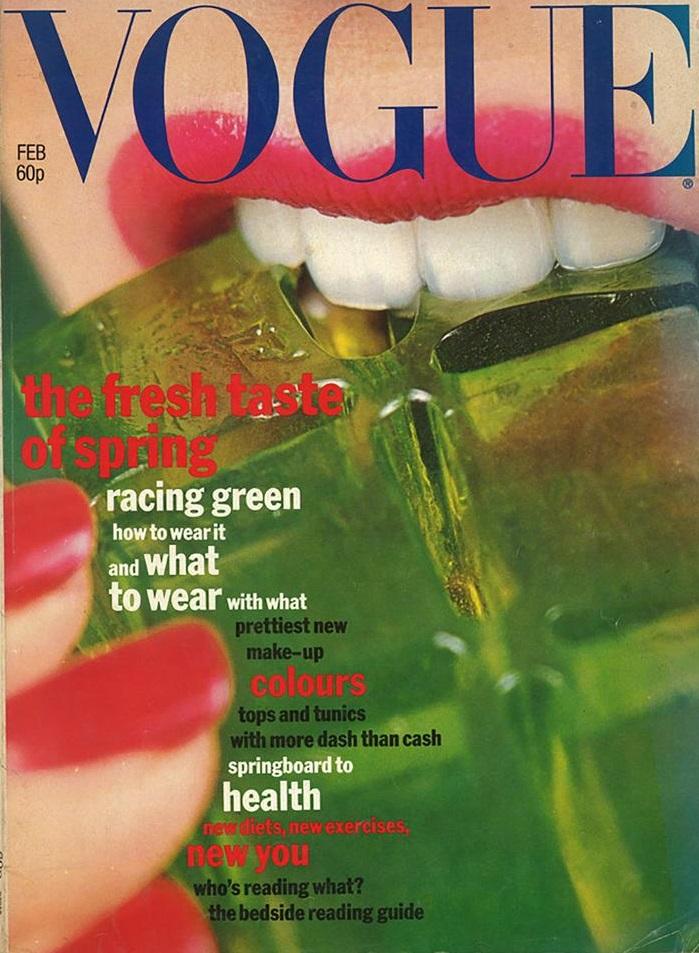 British Vogue Cover February 1977