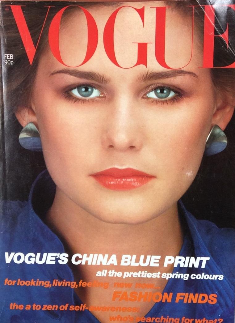 British Vogue Cover February 1980