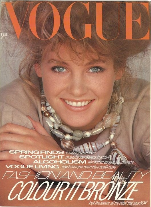 British Vogue Cover February 1981