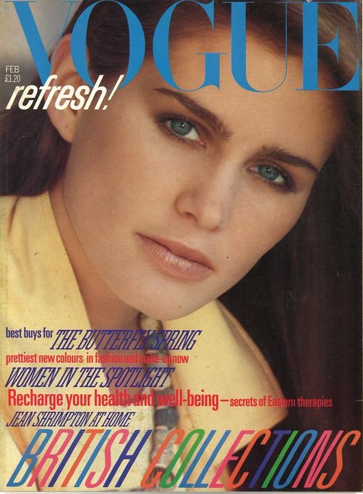 British Vogue Cover February 1982