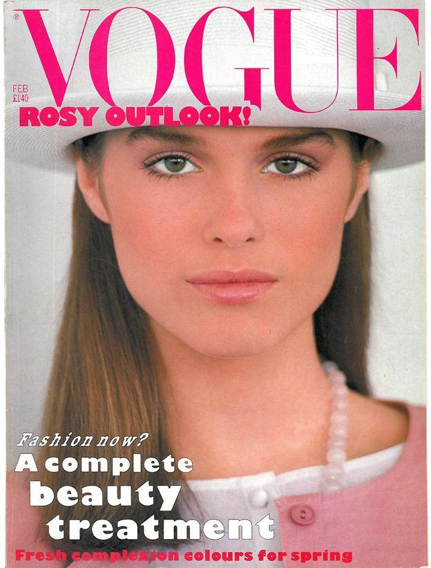 British Vogue Cover February 1983