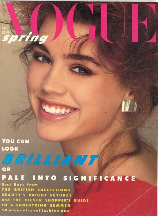 British Vogue Cover February 1984