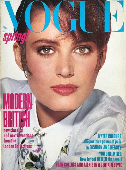British Vogue Cover February 1985