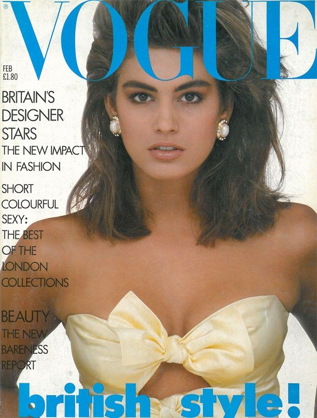 British Vogue Cover February 1987