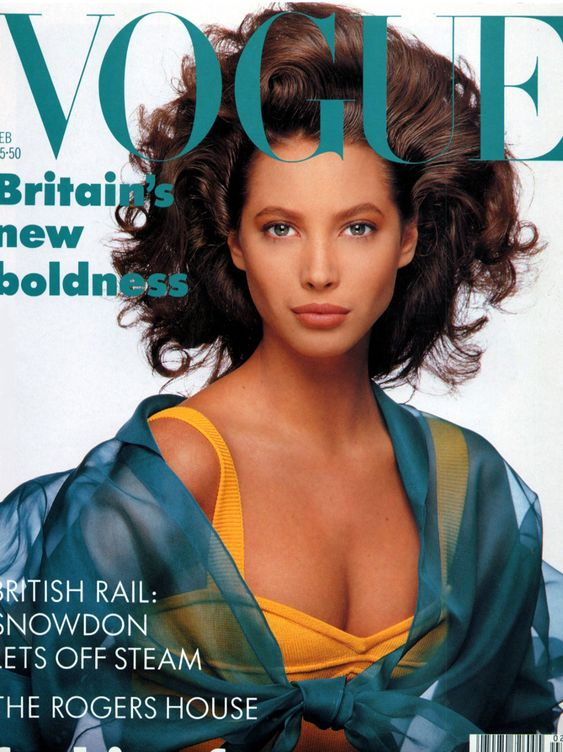 British Vogue Cover February 1988