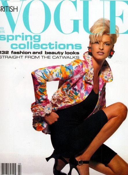British Vogue Cover February 1991