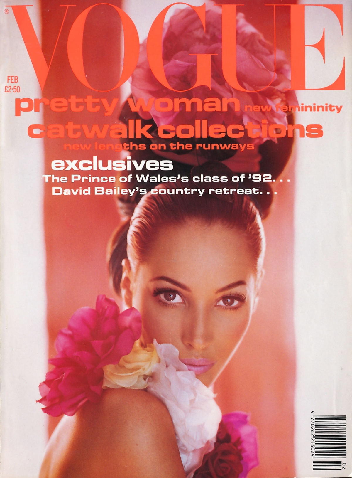 British Vogue Cover February 1992