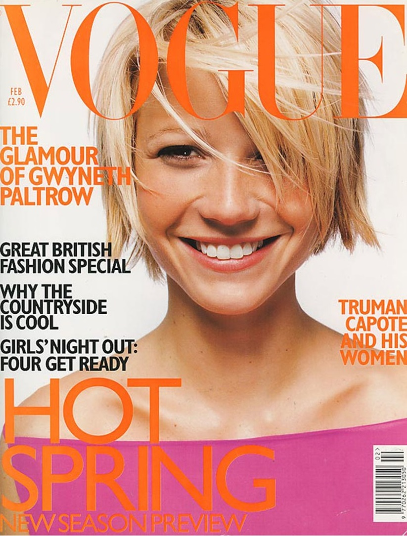 British Vogue Cover February 1998