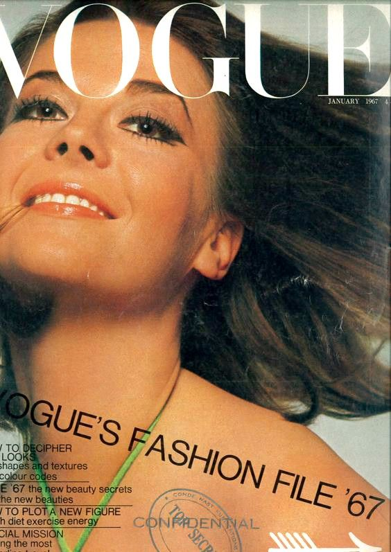 British Vogue Cover January 1967