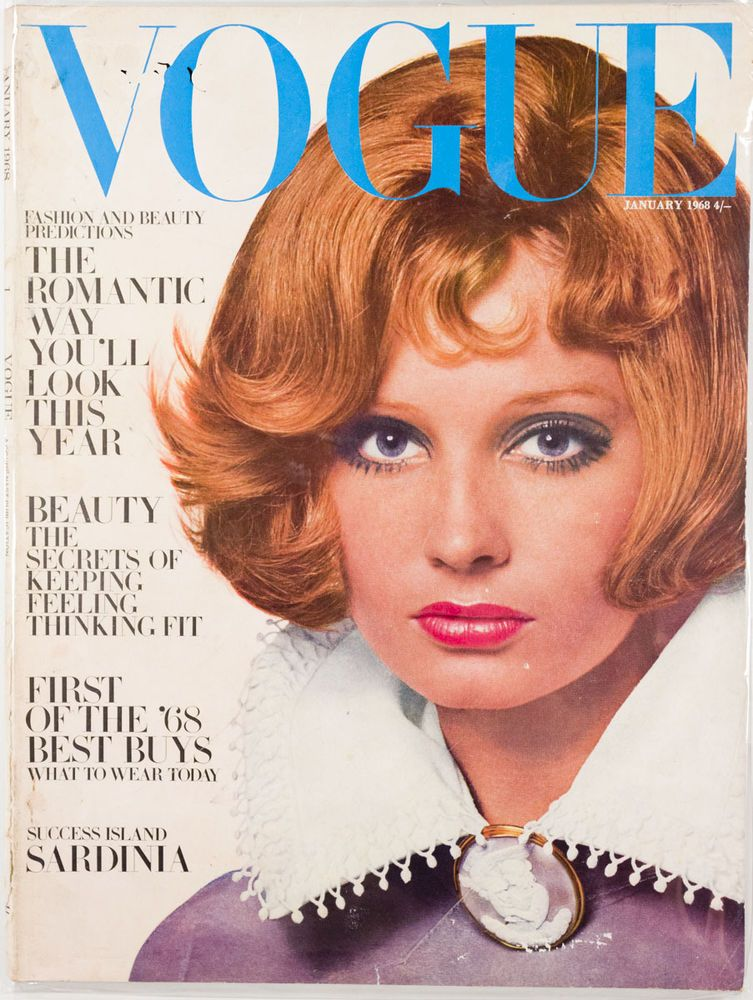 British Vogue Cover January 1968