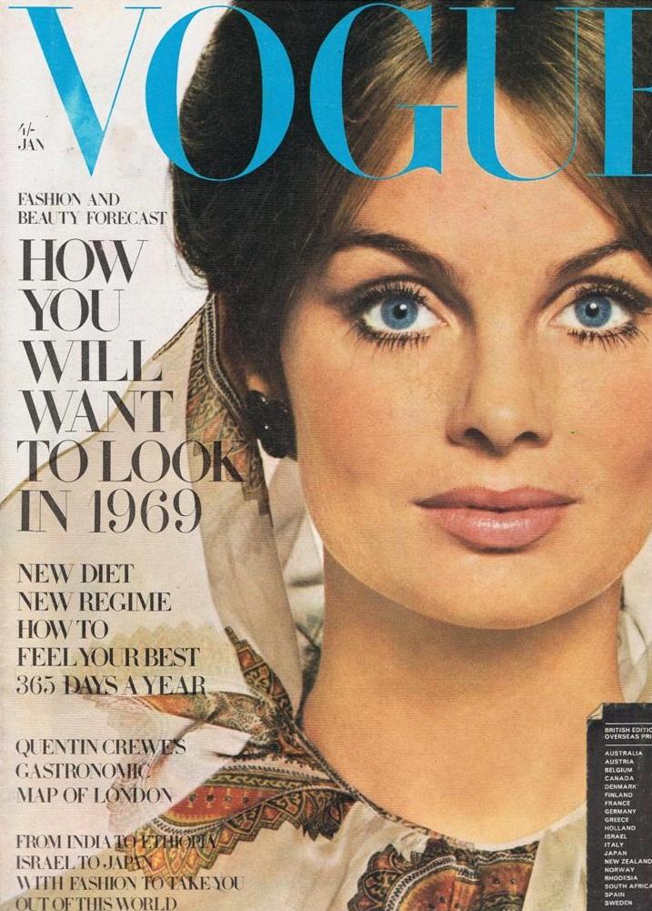 British Vogue Cover January 1969