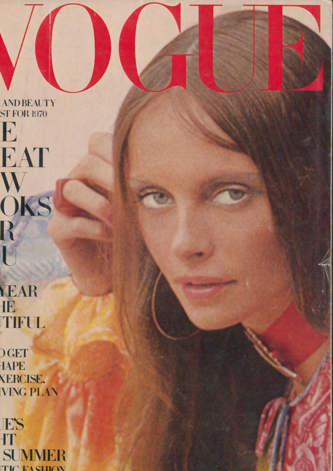 British Vogue Cover January 1970