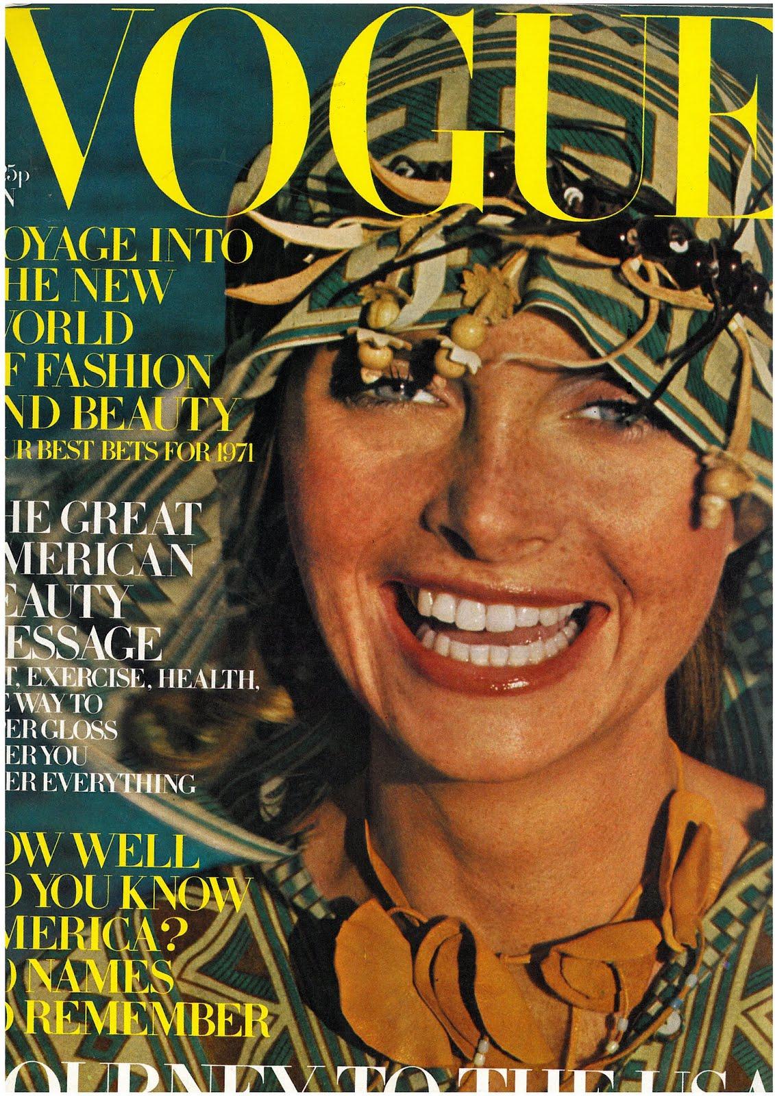 British Vogue Cover January 1971