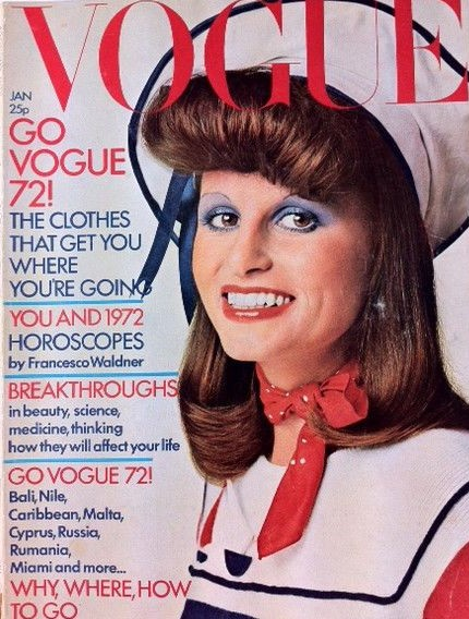 British Vogue Cover January 1972