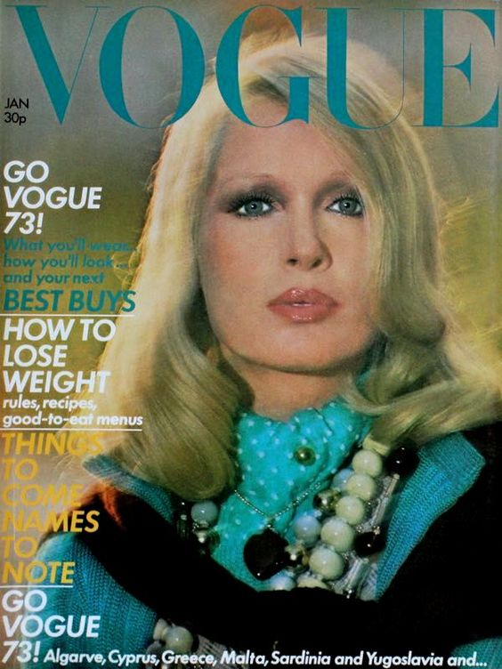 British Vogue Cover January 1973