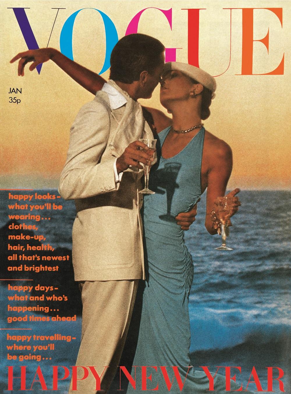 British Vogue Cover January 1974