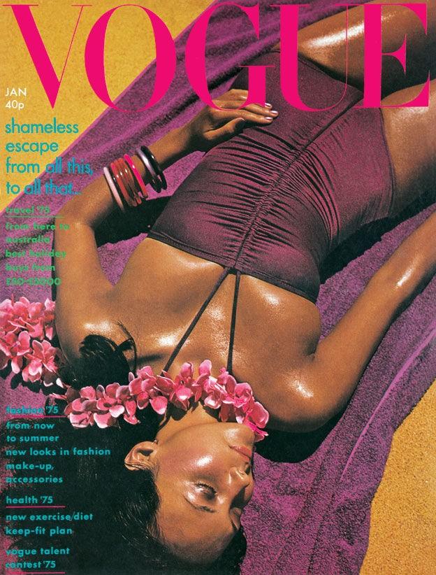 British Vogue Cover January 1975