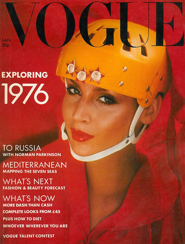 British Vogue Cover January 1976
