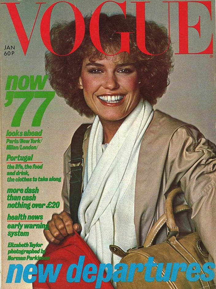 British Vogue Cover January 1977
