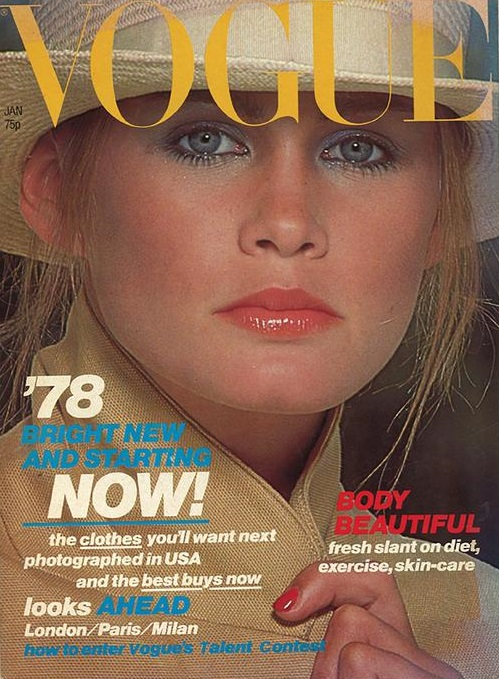 British Vogue Cover January 1978