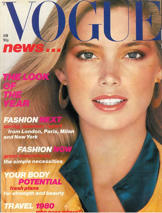 British Vogue Cover January 1980