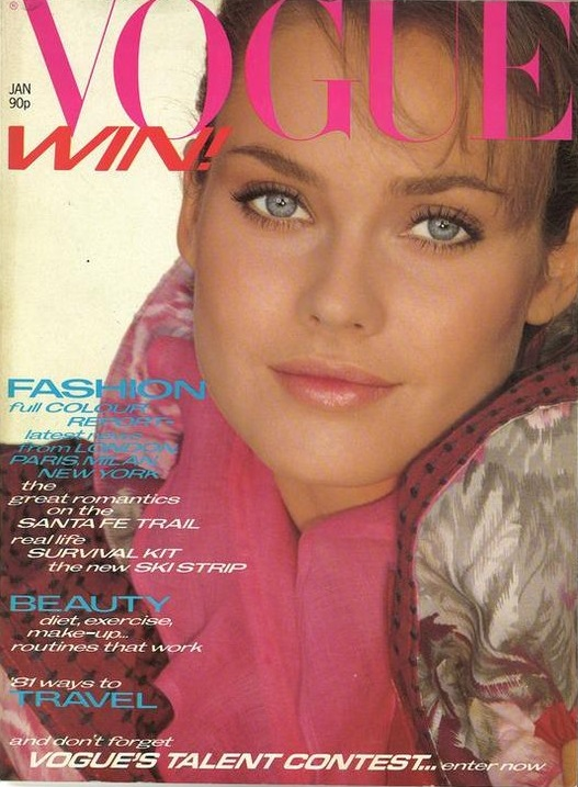 British Vogue Cover January 1981