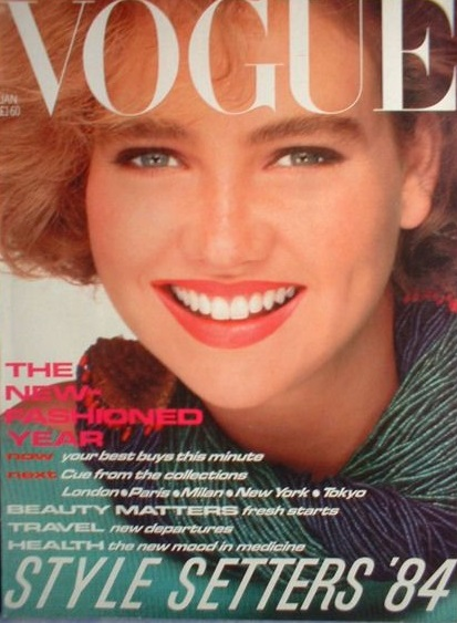 British Vogue Cover January 1984