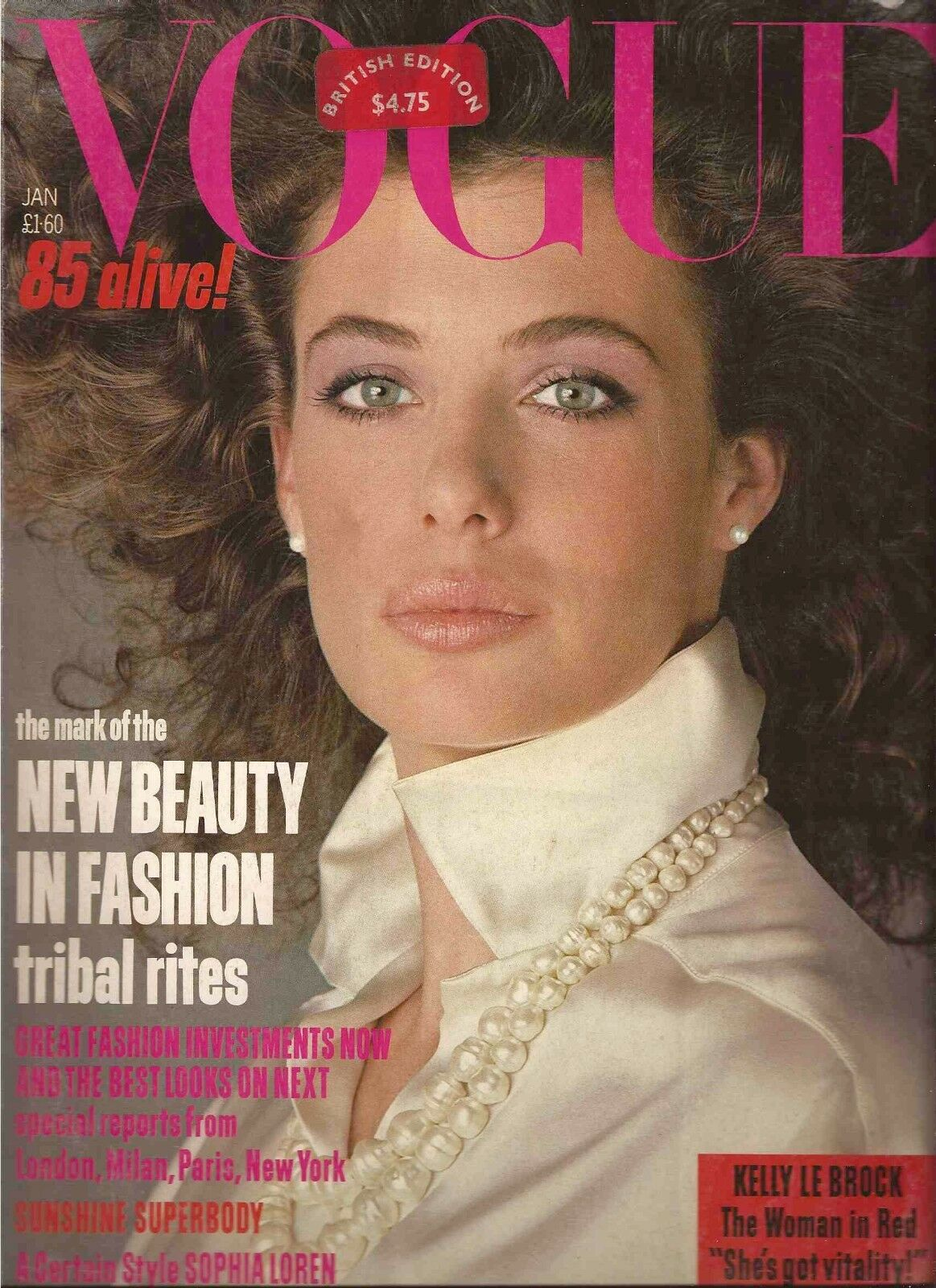 British Vogue Cover January 1985