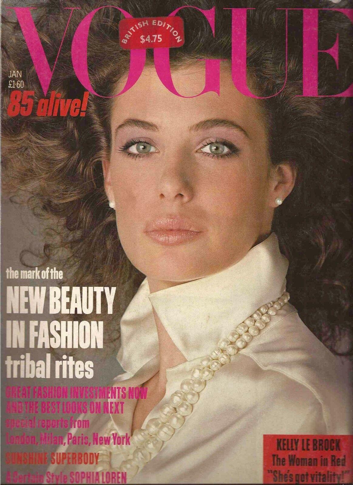 British Vogue Cover January 1985