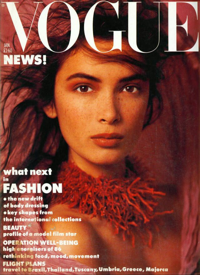 British Vogue Cover January 1986