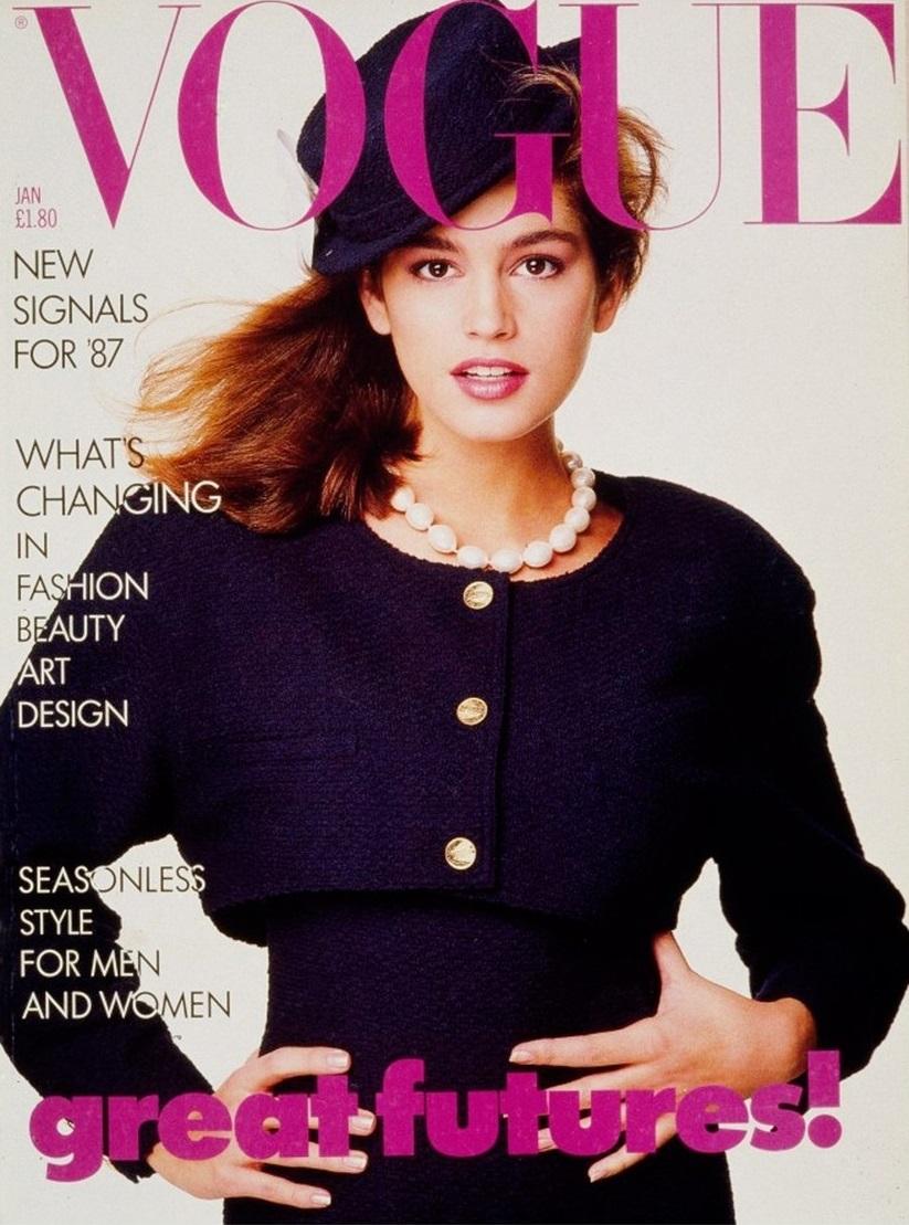 British Vogue Cover January 1987