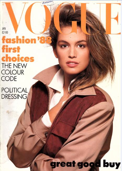 British Vogue Cover January 1988