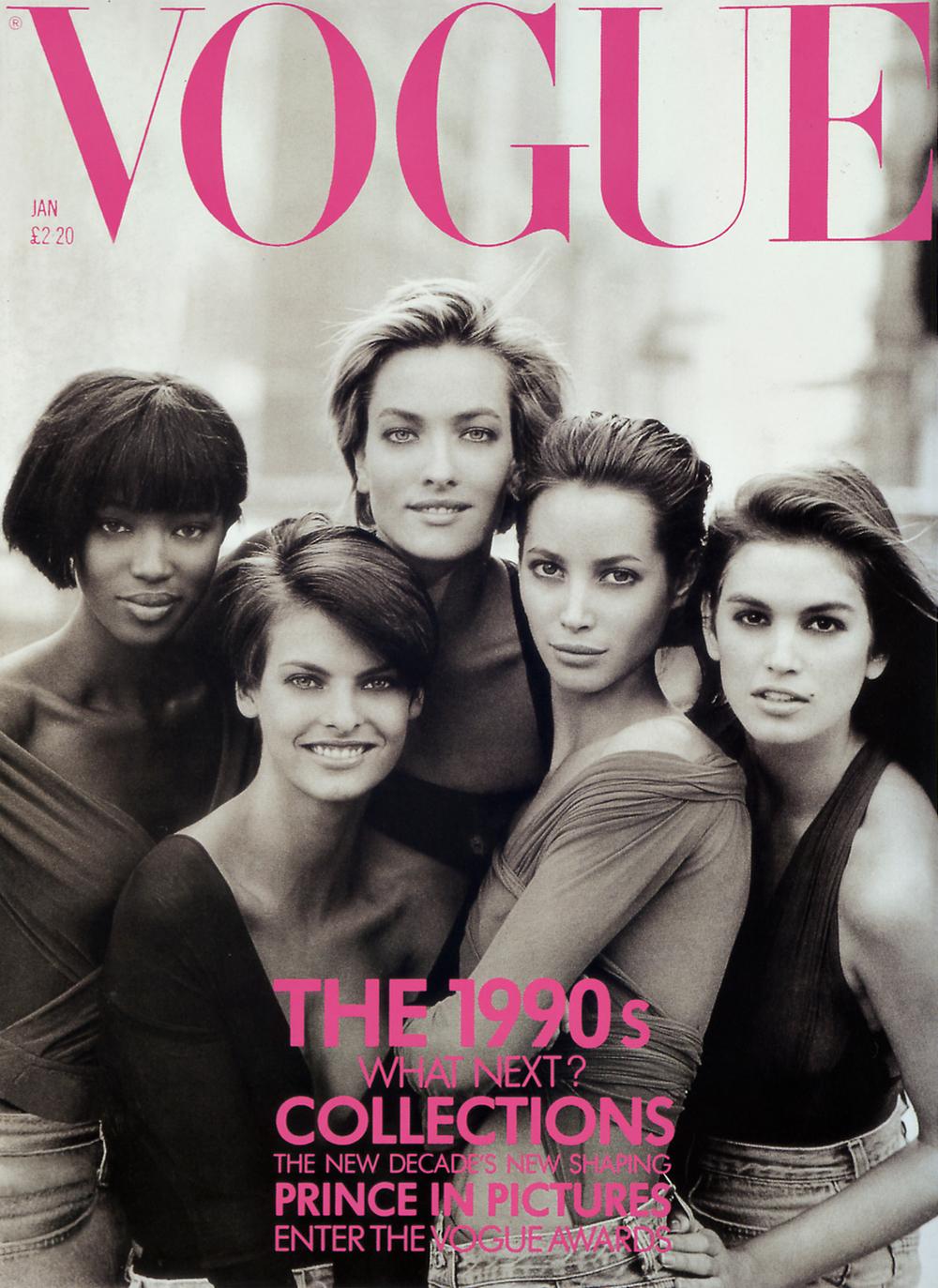 British Vogue Cover January 1990