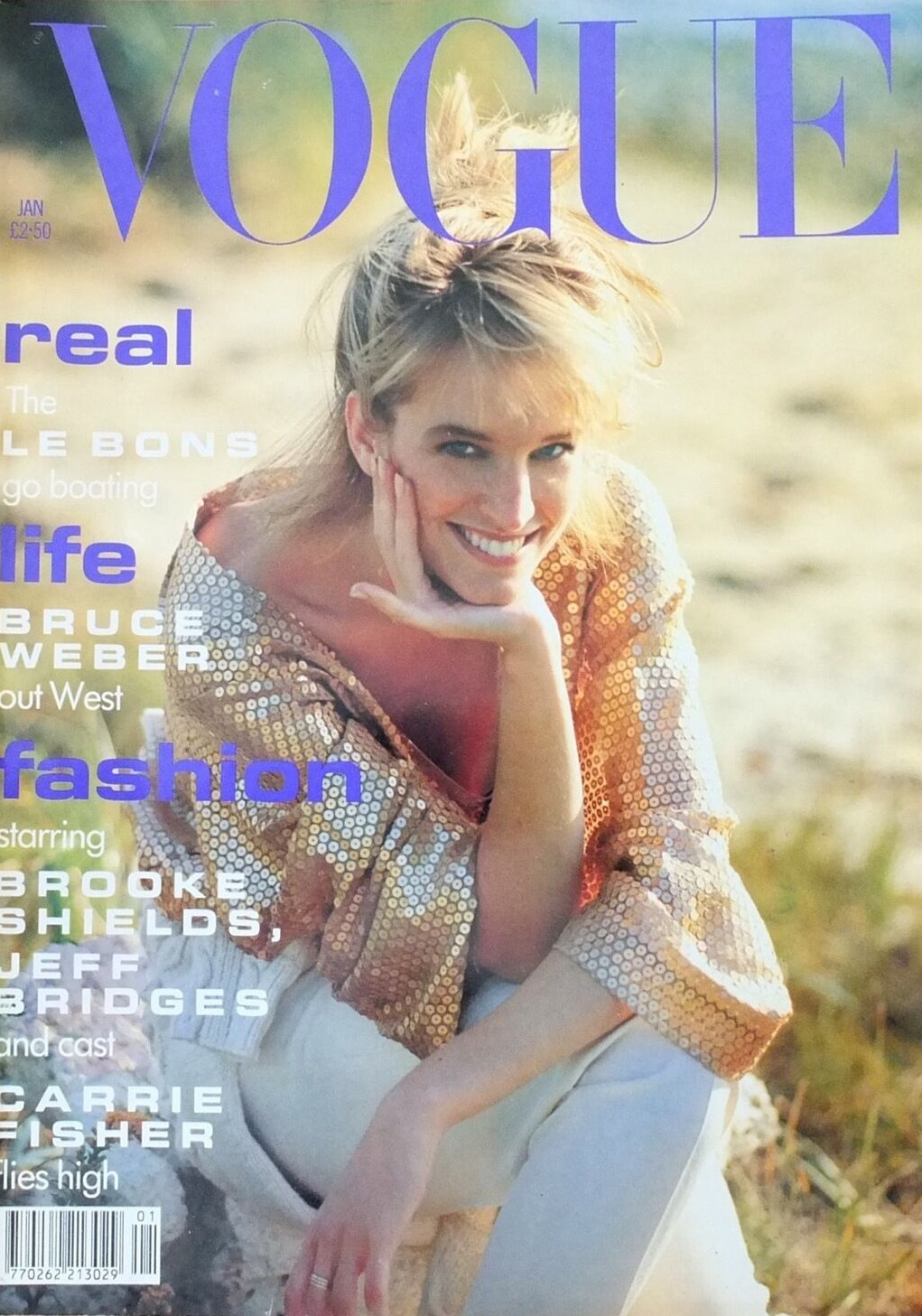 British Vogue Cover January 1991