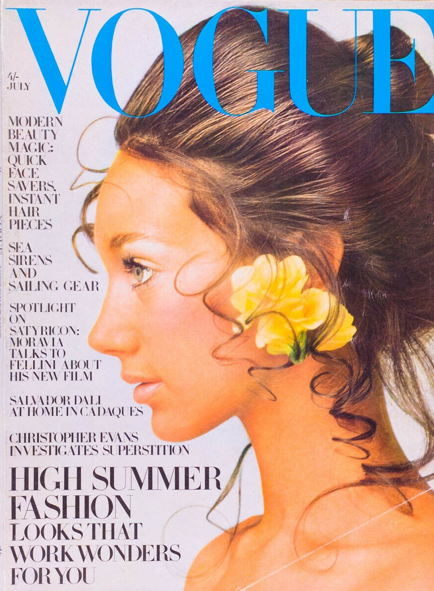 British Vogue Cover July 1969