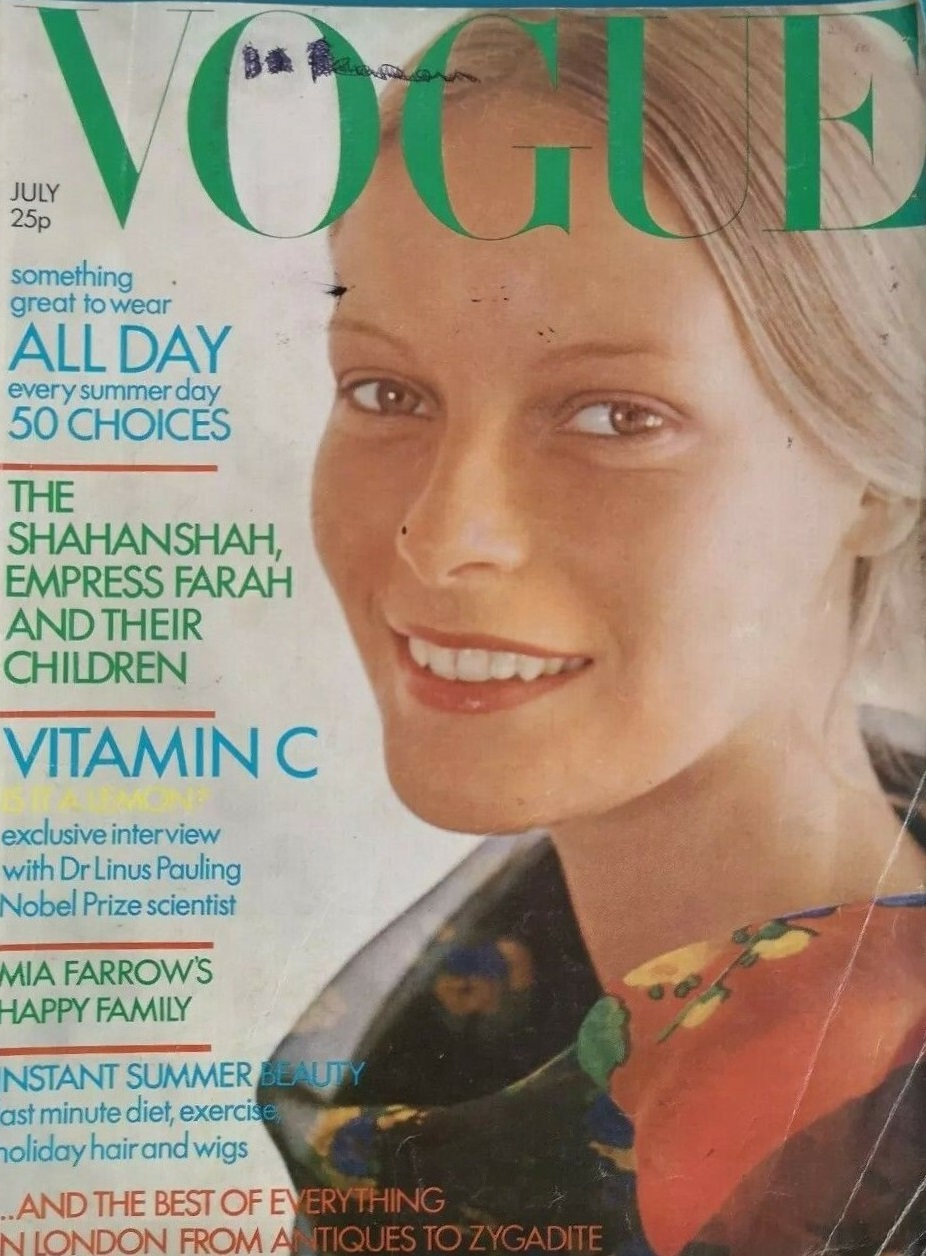 British Vogue Cover July 1971